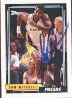 Sam Mitchell Indiana Pacers 1993 Topps Autographed Hand Signed Trading Card. by Hall+of+Fame+Memorabilia