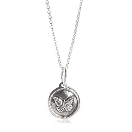 Kids Sterling Silver Spirit Butterfly Necklace