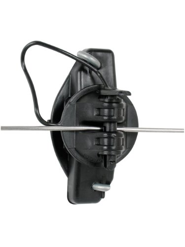Gallagher G687044 25-Pack Wood Post Pinlock Electric Fence Insulator, Black
