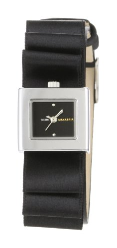 BCBGMAXAZRIA Women's BG6339 Analog Eclectic Mini Plisse' Black Dial Watch