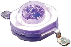 High Power Leds - Single Color 405Nm Uv Purple, 2W 8Mm Rnd Top Dome,Smt