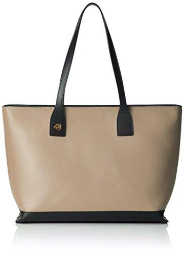 Piquadro Shopping Bag Collezione Antilias Borsa a spalla, Pelle, Beige, 36 cm