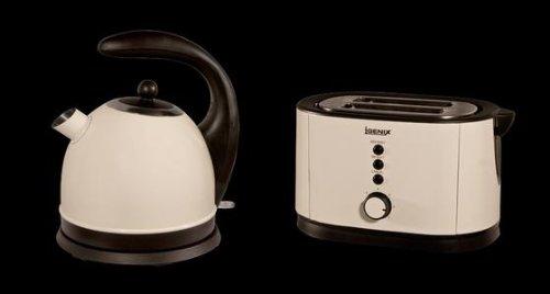 Igenix IG7450 2.2kw Cream Kettle  &  2 Slice Toaster IG3450 Set