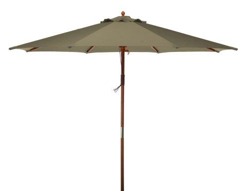 9 ft. Market Polyester Umbrella in Natural