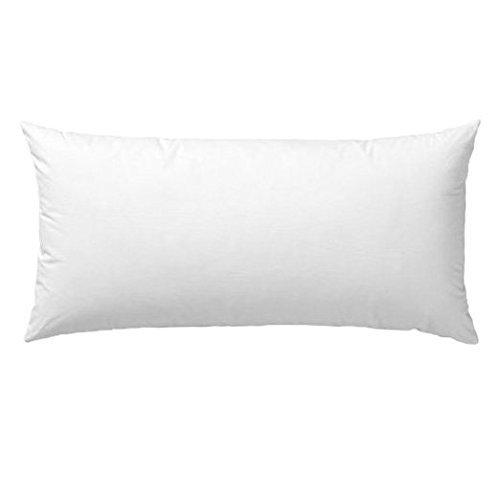 de-lux-12-x-20-oblong-premium-cluster-fiber-pillow-form-insert-cotton-covered-machine-washable