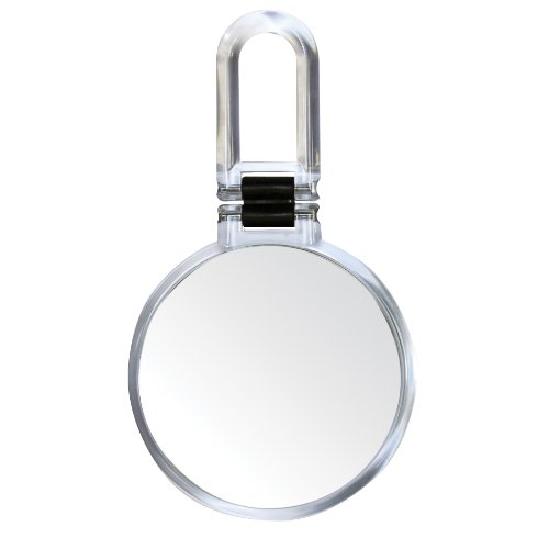 Danielle Folding Hand Held Mirror With 10X Magnification True Image, Chrome front-216465
