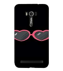 PrintVisa Heart Sunglass Design 3D Hard Polycarbonate Designer Back Case Cover for Asus Zenfone Go