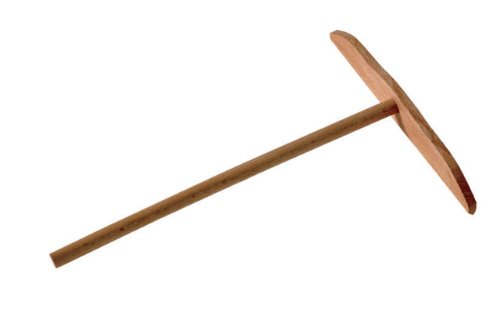 Paderno World Cuisine 7 Inch T-Shaped Wood X5 T Crepe Spreader