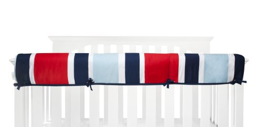 Navy And White Crib Bedding 5763 front