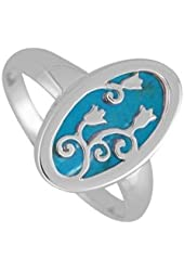 Boma Sterling Silver Turquoise Flower Ring