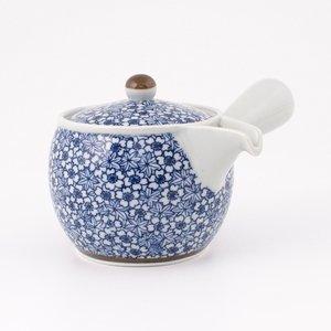 Thire-kyusu-japonaise-Bleu-A-Fleur