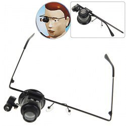 High Quality Novel Watch Repair Monocular Magnifier 20X Glasses Type With Led Light