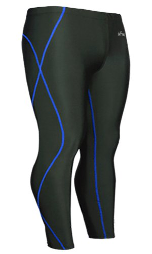 Emfraa Mens Womens Skin Tights Compression Base Layer Running Pants Black S ~ 2XL
