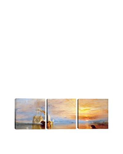 William Turner Fighting Temeraire (Panoramic) 3-Piece Canvas Print