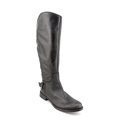 Guess Lurie Womens Size 6 Black Leather Fashion Knee-High Boots