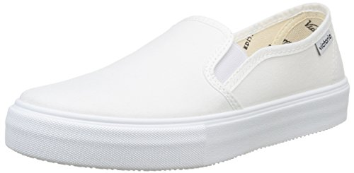 Calego - Slip On Lona, Sneakers  da unisex adulto, bianco(blanc (blanco)), 43