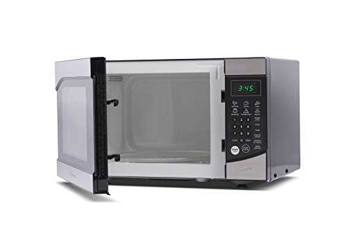 Westinghouse WM009 900W Counter Top Microwave Oven with Stainless Steel Front, 0.9 Cubic Feet, Black