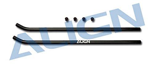 Align H60137-00 T-Rex 600 Skid Pipe, Black - 1