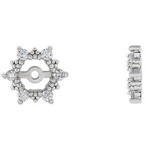 IceCarats Designer Jewelry 14K White Gold 1/4 Ctw Diamond Earring Jacket. Pair 1/4 Cttw