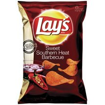 Frito Lay, Lay's Potato Chips, Sweet Southern Heat BBQ Flavored, 10oz Bag (Pack of 3)