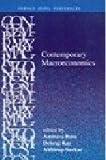 Contemporary Macroeconomics (0195662148) by Ray, Debraj
