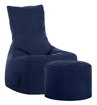 sitzsack set scuba swing hocker jeansblau outdoor us148. Black Bedroom Furniture Sets. Home Design Ideas