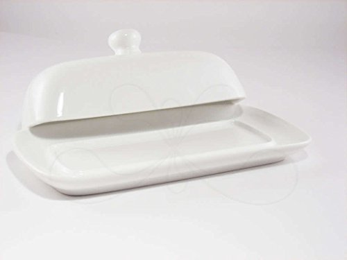 Butter Dish With Lid White Fine Porcelain New Ebay