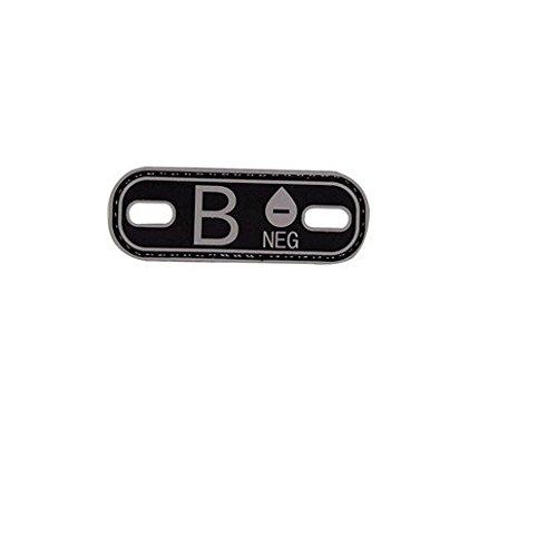 5ive Star Gear Blood Type B- Morale Patch, Black/Grey