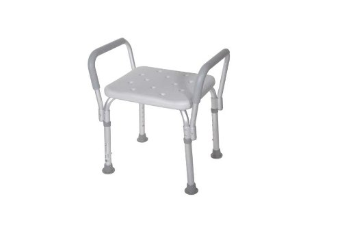 Deluxe Bath Bench With Padded Arms Without Backrest