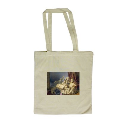Pan and a Nymph by Peter Fendi - Long Handled Shopping Bag