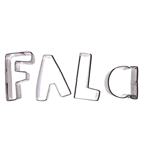 Celebrational SALE Christmas Cookie Cutters: Sing Fa La La in Cookies! Holiday Letter Set Shapes: F, A, L, A. Heavy Duty Stainless Steel, 4 Piece (Letter F Cookie Cutter compare prices)