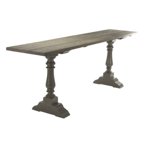 Cheap Hilbert Weathered Gray Modern Rustic Industrial 98″L Console Table (B008A5LHGI)