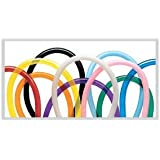 Qualatex 160Q Twister Balloons, assorted colors, 100 count