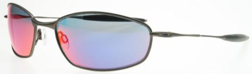 Oakley Ti Whisker Sunglasses Pewter/Red Iridium, One Size