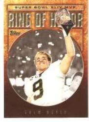 2010 Topps #RH44DB Drew Brees RH Super Bowl MVP - New Orleans Saints (Ring of Honor)(Football Cards) at Amazon.com