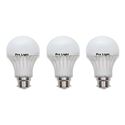 Pro Light 15W LED Bulbs (White, Pack of 3)