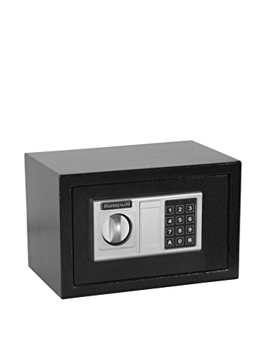 Honeywell Doj Approved .31 Cu. Ft. Steel Security Safe, Black