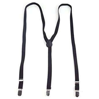 TopTie Men's/ Women's Adjustable 1/2 inch Skinny Suspenders