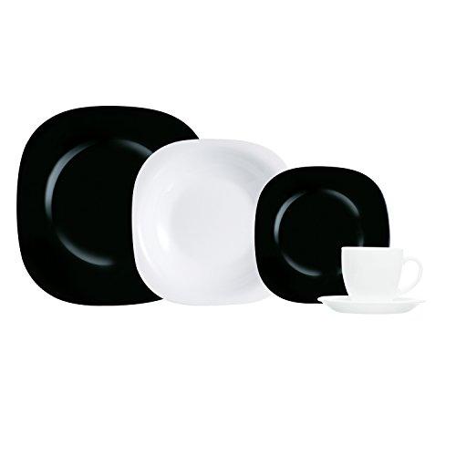 Luminarc carine service de table 0026102895252 cuisine - Service de table noir ...