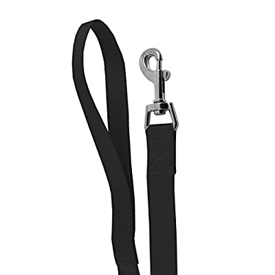 UniversalGadgets Strong Nylon Dog Pet Lead Leash with Clip for Collar Harness - Black
