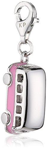 Zeeme Damen-Anhänger 925/- Sterling Silber Mit Pinkem Lack Bully 280240004
