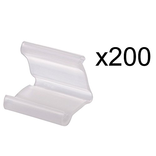 Cosmos ® 200 Pieces of Clear Plastic Small Balloon Clips Tie for Sealing