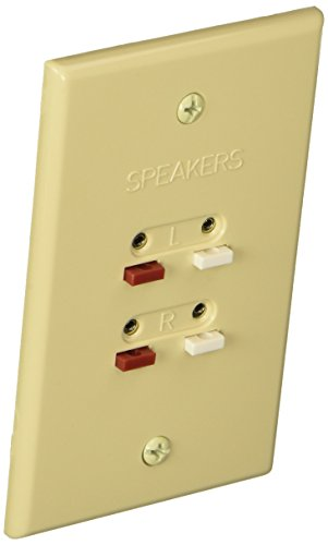 rca-speaker-wire-wall-plate-ah300r-almond