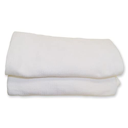 Hospital Thermal Blanket White,snagfree,size 66x90