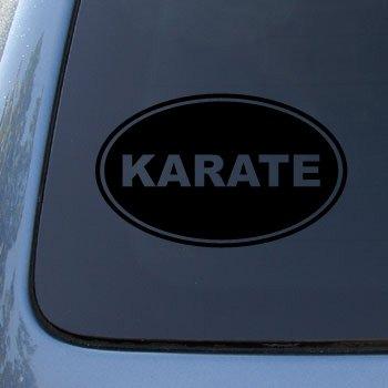 KARATE EURO OVAL - Martial Arts - Vinyl Car Decal Sticker #1723 | Vinyl Color: Black
