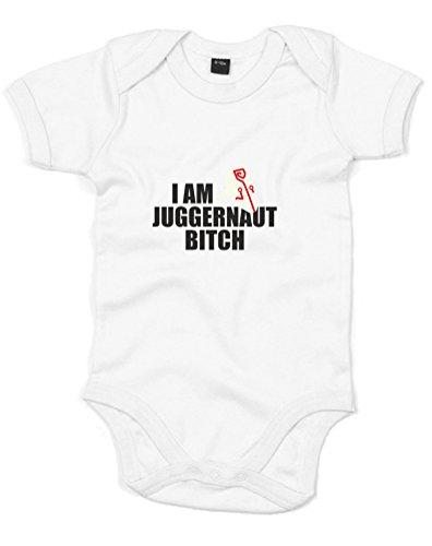 I Am Juggernaut, Printed Baby Grow - White/Black/Transfer 0-3 Months front-734890