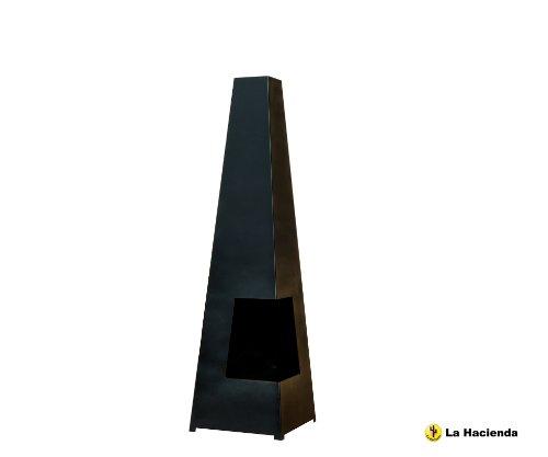 La Hacienda Black Steel Cuba Chiminea Chimenea Patio Heater
