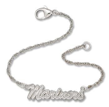 Seattle Mariners Script Bracelet by LogoArt(r) - Silver One Size