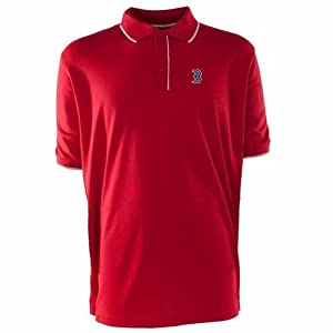 Boston Red Sox Elite Polo Shirt (Team Color) by Antigua