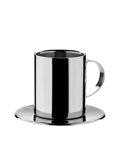 MIU France Stainless Steel Cappuccino Cup Set, Silver